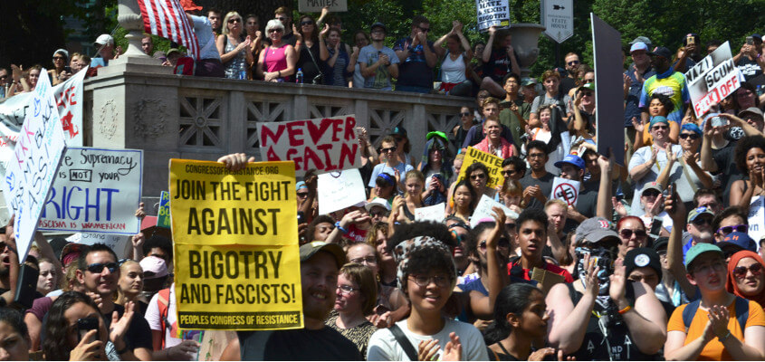 Boston Protest of White Supremacy and Fascism Reveal Deep Contradictions of the Trump Era