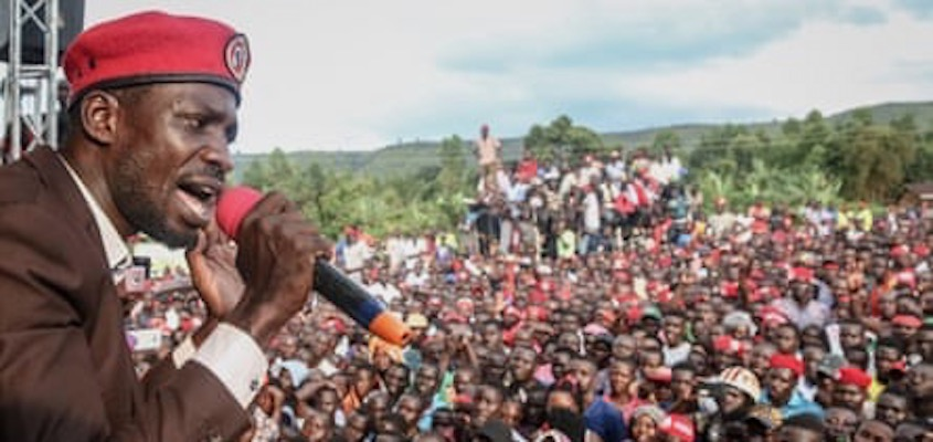 Uganda's Youth Majority Brave Police Blockades and Bullets to Rally Behind Bobi Wine