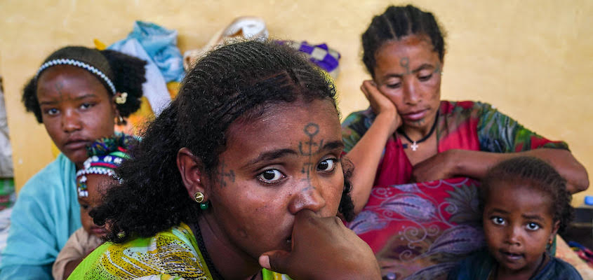 Internally displaced persons in Amhara Region, Ethiopia, 10/2021. Credit: Jemal Countess