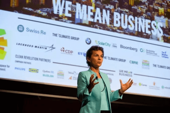 Christiana Figueres, B Team Leader [Source]. The B Team is a founder of We Mean Business