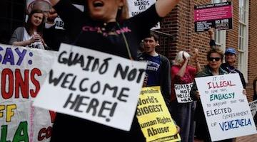 Venezuelan Embassy in DC Under Siege by Guaido's Racist Mob