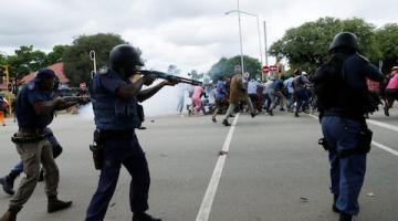South African Police Unleash Water Cannons and Rubber Bullets During Virus Lockdown